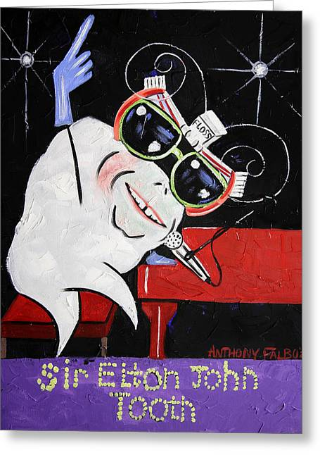 Sir Elton John Tooth  Greeting Card by Anthony Falbo