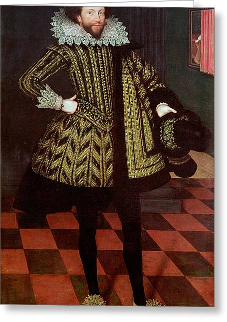 Full-length Portrait Greeting Cards - Sir John Kennedy Of Barn Elms, 1614 Greeting Card by Marcus, the Younger Gheeraerts