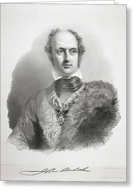 Sir John Malcolm Greeting Card by British Library