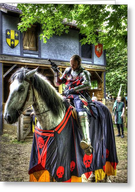 Guinevere Greeting Cards - Sir Lancelot Du Lac - V2 Greeting Card by John Straton