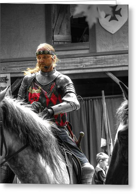Guinevere Greeting Cards - Sir Lancelot Du Lac - V3 Greeting Card by John Straton