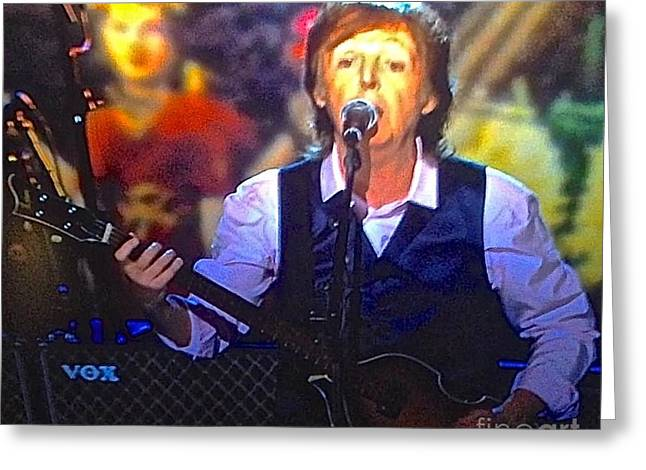 Recently Sold -  - ist Photographs Greeting Cards - Sir Paul McCartney 2014 Greeting Card by Christy Gendalia
