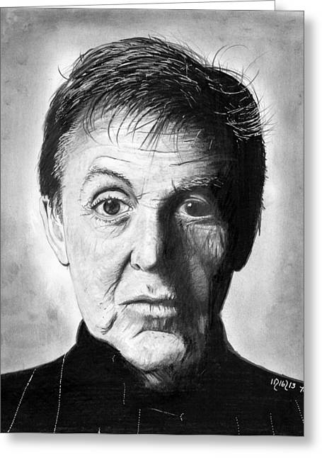 Paul Mccartney Drawings Greeting Cards - Sir Paul McCartney Greeting Card by Mick ODay