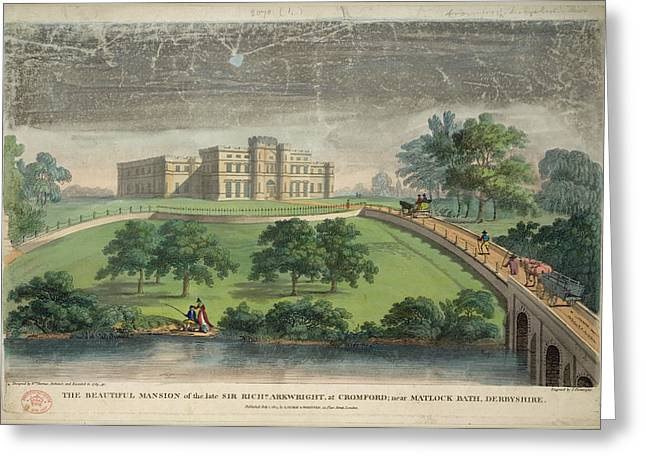 Sir Richard Arkwright's Mansion Greeting Card by British Library