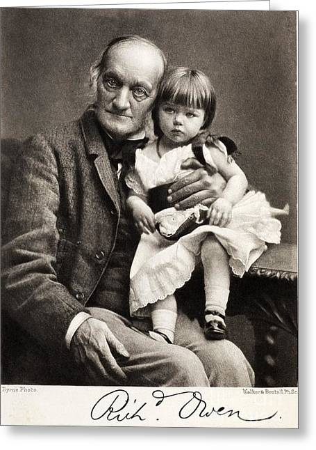 Archetypes Greeting Cards - Sir Richard Owen And Grandaughter Greeting Card by Paul D. Stewart