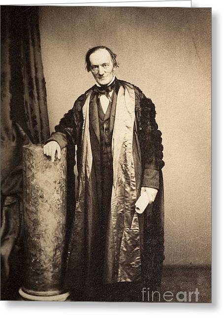 Moa Greeting Cards - Sir Richard Owen, British Biologist Greeting Card by Paul D. Stewart