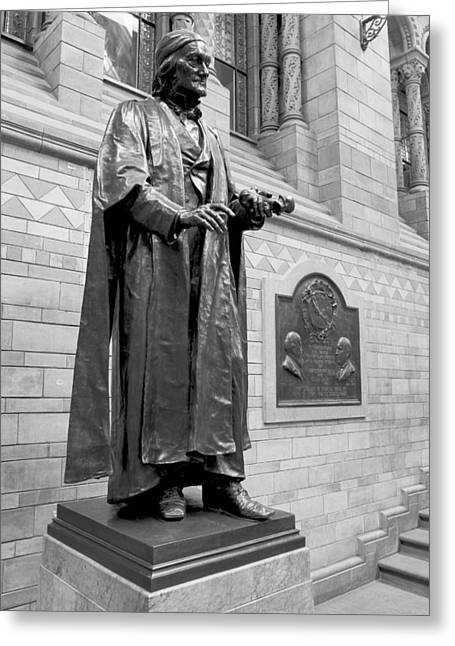 Brock Greeting Cards - Sir Richard Owen, museum statue Greeting Card by Science Photo Library