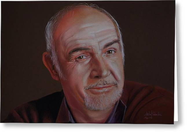 Award Drawings Greeting Cards - Sir Sean Connery Greeting Card by Isabel Salvador
