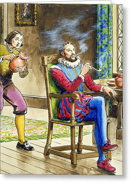 Startled Greeting Cards - Sir Walter Raleigh From Peeps Greeting Card by Trelleek