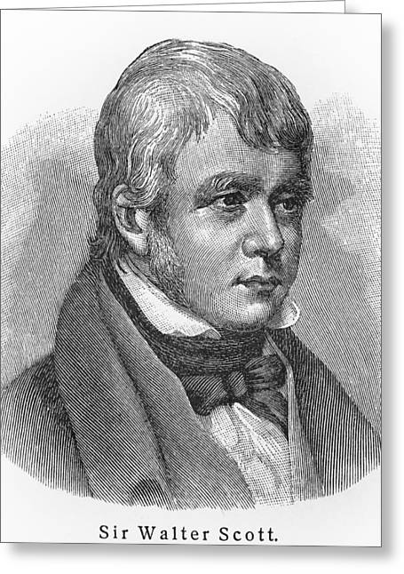 British Portraits Greeting Cards - Sir Walter Scott Greeting Card by Oprea Nicolae