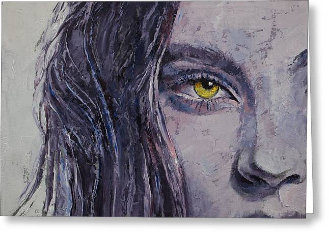 Siren Art Greeting Cards - Siren Greeting Card by Michael Creese