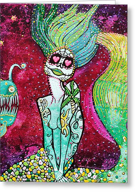 Fantasy Creatures Greeting Cards - Siren Of The Sea Greeting Card by Laura Barbosa
