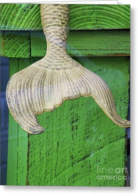 Concrete Sculpture Greeting Cards - Sirens Tail Greeting Card by Joe Jake Pratt