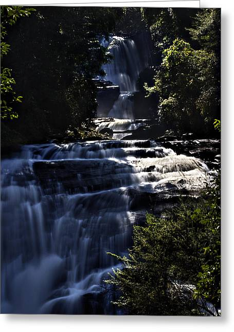 Beautiful Creek Pyrography Greeting Cards - Sirithan waterfall Greeting Card by Stefan Johansson
