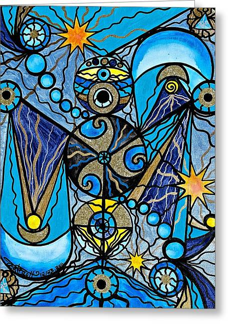 Allopathy Paintings Greeting Cards - Sirius Greeting Card by Teal Eye  Print Store