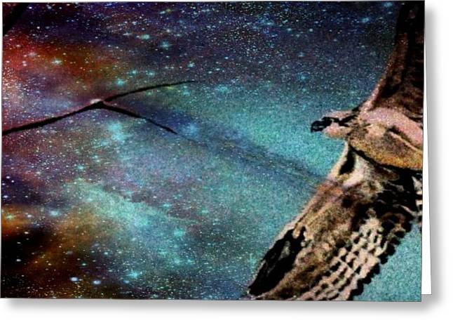 Sister Hawk Greeting Card by YoMamaBird Rhonda