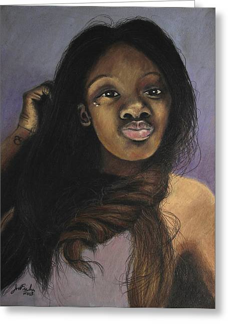 African-american Pastels Greeting Cards - Sister Greeting Card by Jeanne Fischer