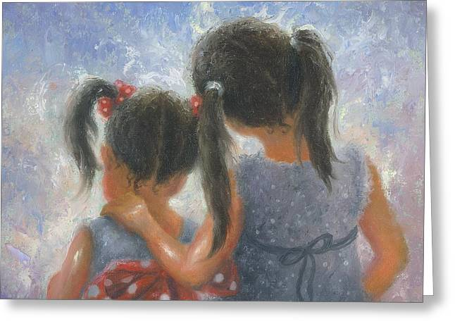 Sister Love Greeting Card by Vickie Wade