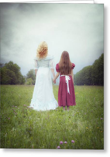 Anonymous Greeting Cards - Sisters Greeting Card by Joana Kruse