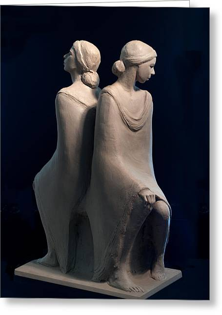 Print Sculptures Greeting Cards - Sisters Greeting Card by Mary Buckman