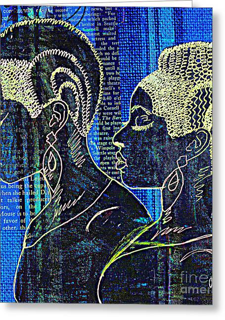 Survivor Art Greeting Cards - Sisters of the Night Greeting Card by Angela L Walker