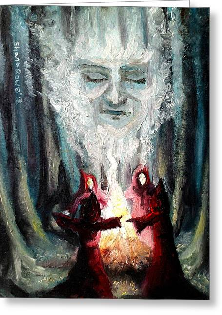 Recently Sold -  - Ghostly Greeting Cards - Sisters of the Night Greeting Card by Shana Rowe