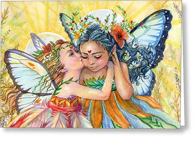 Sisters Greeting Card by Sara Burrier