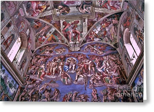Michelangelo Greeting Cards - Sistine Chapel Greeting Card by Allen Beatty