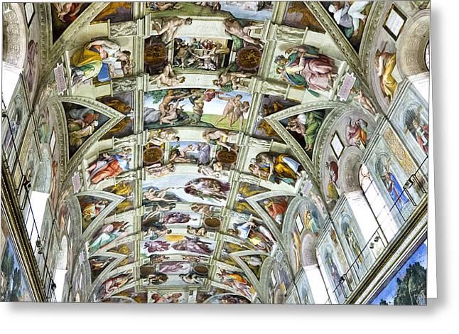Berghoff Greeting Cards - Sistine Chapel Greeting Card by Jon Berghoff