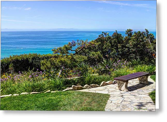 Palos Verdes Cove Greeting Cards - Sit And Stay A While Greeting Card by Heidi Smith