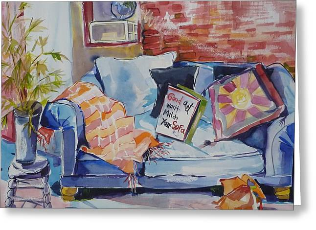 Sit At Your Own Risk Greeting Card by Suzanne Willis