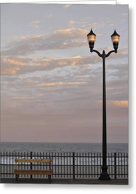 Seaside Heights Greeting Cards - Sit Enjoy the Day Seaside Heights New Jersey Greeting Card by Terry DeLuco