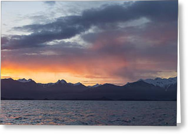 Southeast Alaska Greeting Cards - Sitka Sound Sunrise Greeting Card by Tim Grams