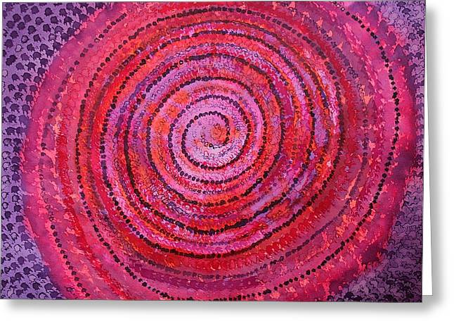 Unity Consciousness Greeting Cards - Sits in the Middle and Knows original painting Greeting Card by Sol Luckman