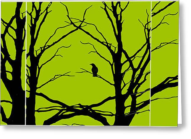 Green Artworks Greeting Cards - Sitting Around Greeting Card by Lourry Legarde