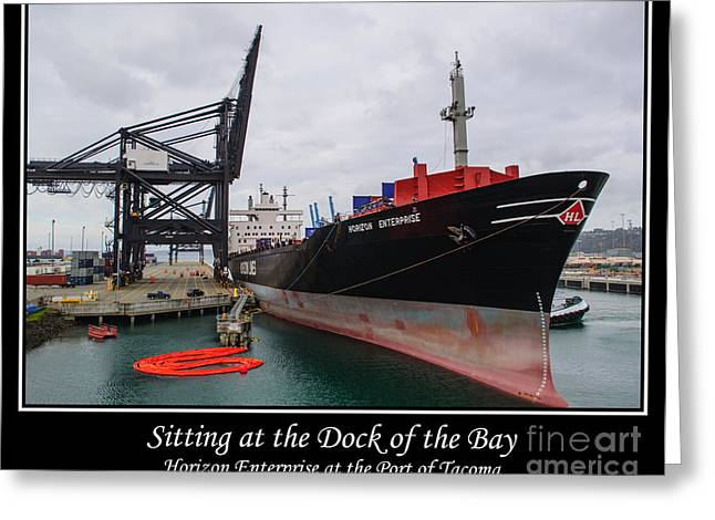 Sitting at the Dock of the Bay Greeting Card by Roger Reeves  and Terrie Heslop