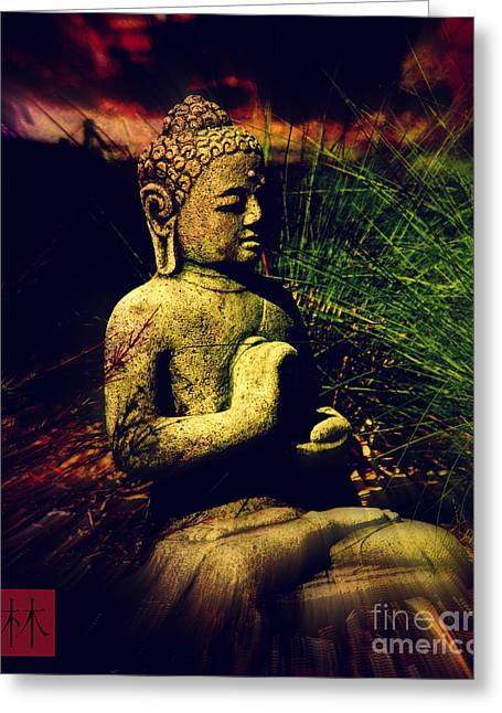 Figurative Sculpture Greeting Cards - Sitting Buddha 2 Greeting Card by Susanne Van Hulst