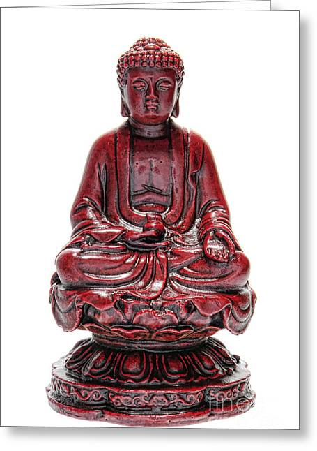 Sacred Greeting Cards - Sitting Buddha  Greeting Card by Olivier Le Queinec