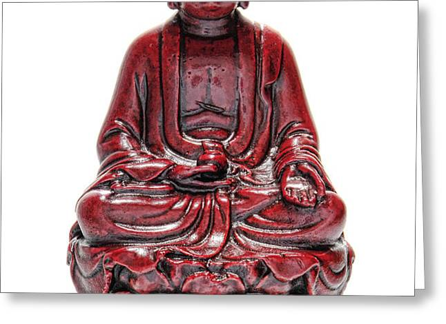 Sitting Buddha  Greeting Card by Olivier Le Queinec