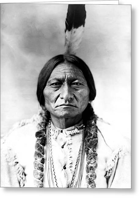 Sitting Bull Greeting Card by Bill Cannon