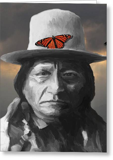 Chief Sitting Bull Greeting Cards - Sitting Bull Greeting Card by GCannon