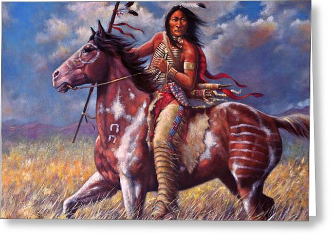 Sioux Greeting Cards - Sitting Bull Greeting Card by Harvie Brown