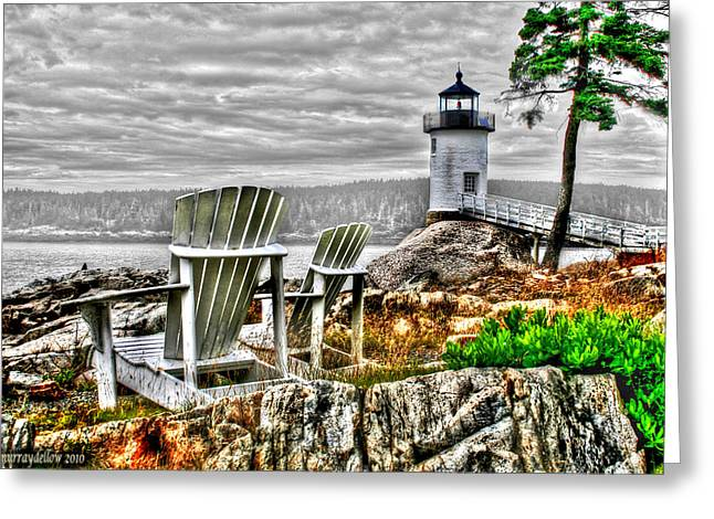 Haut Digital Greeting Cards - Sitting By The Light Greeting Card by Murray Dellow