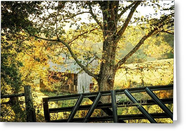 Tennessee Landmark Greeting Cards - Sitting in a Holler Greeting Card by Sandy Baskeyfield