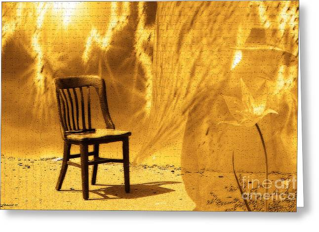 Empty Chairs Digital Greeting Cards - Sitting on Edge Greeting Card by Cathy  Beharriell