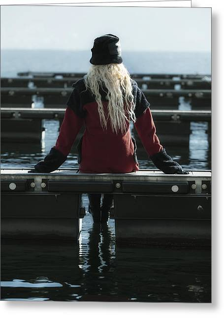 Anonymous Greeting Cards - Sitting On Jetty Greeting Card by Joana Kruse