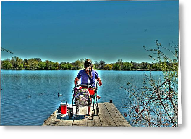 Sitting Ducks Greeting Cards - Sitting on the Dock Greeting Card by Jimmy Ostgard