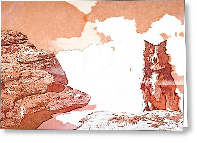 Breeds Greeting Cards - Sitting on the Rock -WC Greeting Card by Joye Ardyn Durham