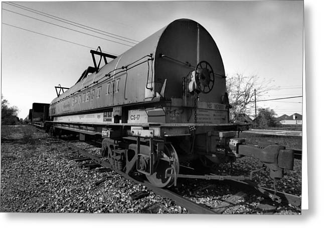 Abandoned Train Greeting Cards - Sitting on the Tracks Greeting Card by Linda Unger