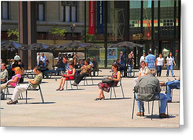 Daley Plaza Greeting Cards - Chicago Daley Plaza Greeting Card by Patrick  Warneka